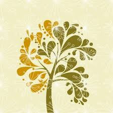 ornamental tree with swirly branches free vector in encapsulated
