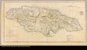Map Jamaica A Map Of The Island Of Jamaica Divided Into Counties And Parishes