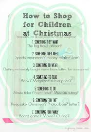 shopping for children how to