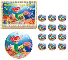 edible cake images mermaid ariel edible cake topper frosting sheet all sizes