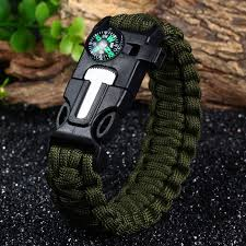 bracelet paracord survival images 5pcs pack 5 in 1 survival paracord bracelet fire starter jpg