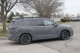 New Subaru 7 Seater Spied 2018 Subaru Ascent Three Row Crossover With Production