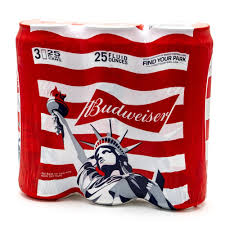 budweiser beer 25oz can 3 pack beer wine and liquor