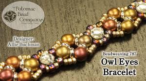 youtube beads bracelet images Beadweaving quot owl eyes quot bracelet jpg