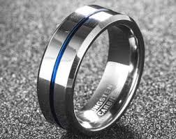 mens wedding rings tungsten tungsten ring etsy