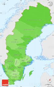 Map Sweden Political Shades Simple Map Of Sweden Single Color Outside