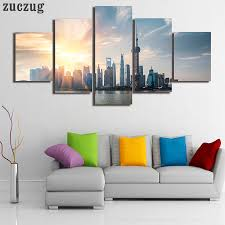 online get cheap ink pearl hd aliexpress com alibaba group unframed 5pcs hd printed chinese flag building oriental pearl home decor for living room painting on