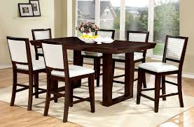 High Dining Room Sets by Furniture Of America Luminar Counter Height Dining Room Set In Black