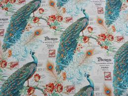Teal Bird Curtains 46 Best Upholstery Fabric Images On Soft Furnishings