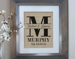 monogrammed wedding gift personalized wedding gift etsy