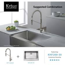 Commercial Kitchen Sinks Kraus Kpf 2630ss Mateo Stainless Steel Kitchen Faucets Commercial