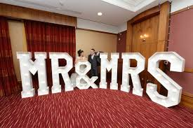 Mr And Mrs Sign For Wedding Light Up Letters Giant Light Up Letters Hire