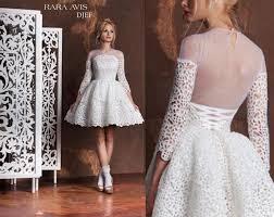 Unique Wedding Dress Short Wedding Dress Djef Tea Length Wedding Dress Short Lace