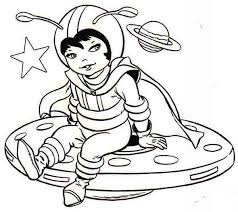 astronaut coloring page a cute little dress on astronaut costume coloring page
