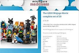 minifigure madness has a full set of 20 ninjago movie minifigures