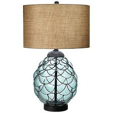 Blue Glass Table Lamp Pacific Collection Sea Blue Glass Table Lamp 6h431 Lamps Plus