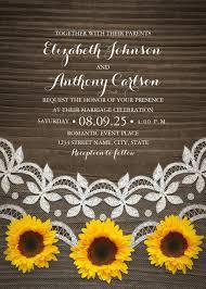 sunflower wedding invitations rustic wedding invitations archives superdazzle custom