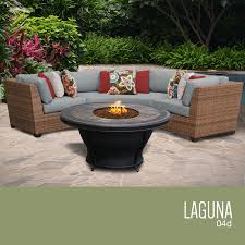 4 Piece Wicker Patio Furniture - tk classics laguna 4 piece outdoor wicker patio furniture set 04d