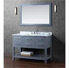 solid wood bathroom cabinet buy antonia 48 inch solid wood single bathroom vanity in charcoal