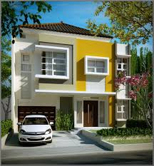 attractive design of the high end modern cad house that has yellow