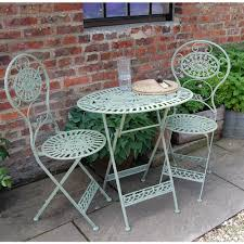 Classic Estate Green Cast Metal Garden Table And Chairs