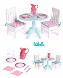 american doll dining table american dining table chairs for 18 doll pitcher plates