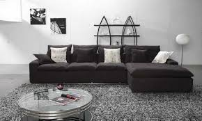 Black Microfiber Sectional Sofa With Chaise L Shaped Gray Microfiber Sectional Sofa With Chaise Lounge And