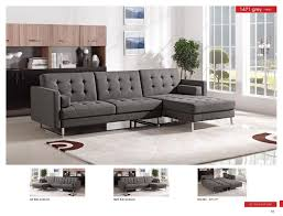 grey fabric modern living room sectional sofa w wooden legs 1471 contemporary grey fabric sectional sofa w sleeper esf