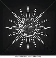 sun moon logo astronomical icon astrological stock vector 506923948