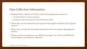 Extenuating Circumstances by Spring Ell Assessment Update Tetn January 27 Ppt Download