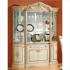 Curio Cabinets Under 200 00 Camelgroup Rossella 4 Door China Cabinet In Ivory China Cabinets