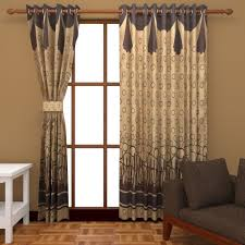 buy super india jacquard 2 piece cotton blend door curtain set