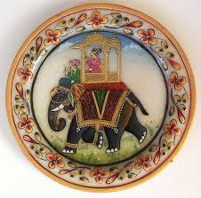 indian maharaja 5 u2033 marble plate art handmade floral elephant home