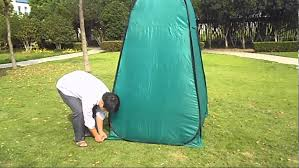 how to setup and folding portable toilet tent youtube