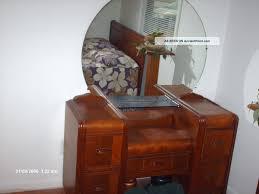 Lexington Cherry Bedroom Furniture Bedroom 1920 U0027s Art Deco Waterfall Dresser Vanity Waterfall Coal