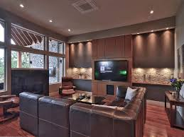 surprising flower decorate on led tv wall living room contemporary