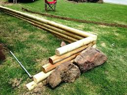 landscaping timbers appealing retaining wall design using
