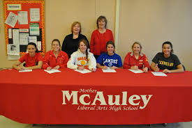 Is A Letter Of Intent Binding by On National Signing Day 6 Mcauley Seniors Signed A Binding Letter