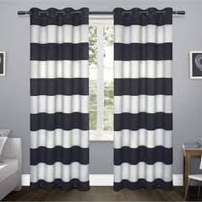 Black And White Window Curtains Stripe Curtains Drapes For Less Overstock