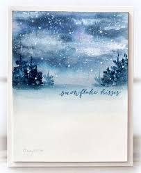 the 25 best painted christmas cards ideas on pinterest