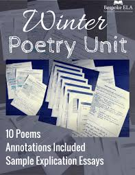 the complex themes of winter poetry creating a winter poetry unit