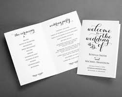 folded wedding program template navy blue folded wedding program template instant
