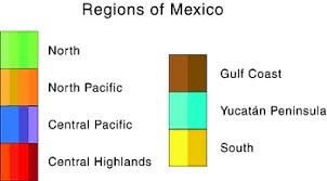 regions of mexico map mexico maps click on map or state names for interactive maps of