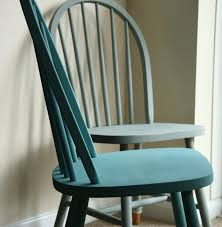 ercol chairs painted in duck egg and provence blue perfect for