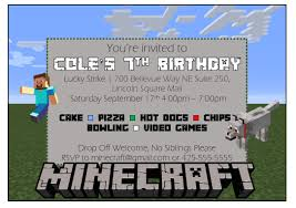 make your own minecraft birthday invitation with ms word youtube