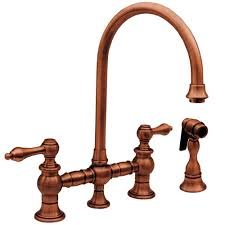 kitchen faucet copper whitehaus collection vintage iii 2 handle standard kitchen faucet