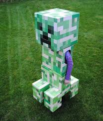 telescoping minecraft creeper costume 7 steps with pictures