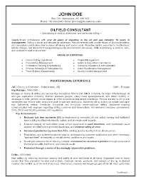 Sample Of Resume Summary by Epic Example Of A Oilfield Consultant Resume Sample