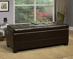 furniture long square with tufted leather storage ottoman for