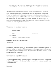 Child Support Contract Template Landscaping Contracts Resume Cv Cover Letter